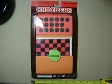 "Foam Checkers with 5"" x 5"" Game Board (NEW, sealed)"