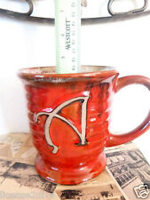 "POTTERY STYLE LARGE MUG! GR8 4 SOUP/ICE CREAM/DESSERT! FREE SHIP! INITIAL ""A""!"