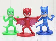 PJ Masks Catboy Owlette Playset 3 Figure Cake Topper * USA SELLER* Toy Doll Set