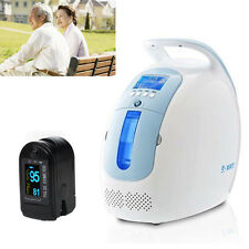 Portable Oxygen Concentrator Generator Machine Home Traval Car+Pulse oximeter