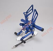 Blue CNC Adjuster footrest Racing Rearset for Suzuki SV650 SV650S SV1000 S