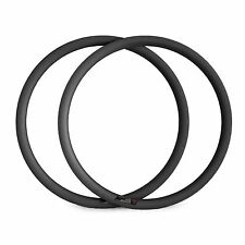 1 Set 700C 38mm Tubular Carbon Fiber Rims 23mm Width for Road Bicycle
