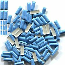 BAR Rectangle Rhinestu Pearl color SKY BLUE Hot Fix 1 gross