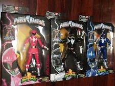 """IN STOCK! BLUE BLACK & PINK POWER RANGERS LEGACY 6"""" Action Figure W/ MEGAZORD"""