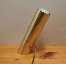 1 Vintage retro shiny brass slanted cylinder spot light lamp table floor desk