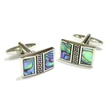 Multi Coloured Abalone Shell Vertical CUFFLINKS Wedding Formal Birthday Present