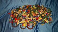 VINTAGE LOT OF MINIATURE PLASTIC ARMY MEN COWBOYS INDIANS MINERS *ESTATE FIND*