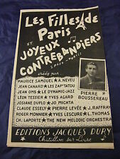Partition Les filles Paris et Joyeux contrebandiers de Pierre Boussereau