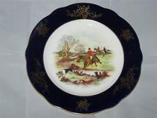 "Vintage Coalport Hand-Painted Hunting Scene Plate ""In Full Cry"" pre 1920"
