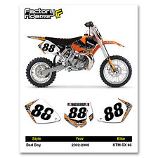Bad Boy TEAM Motocross Number Plate Graphic 2002-2008 KTM 65 SX by ENJOY MFG