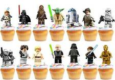 24 x STAR WARS Edible Cup Cake Fairy Toppers Birthday Party Wafer STAND UP 5cm
