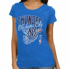 Adidas OKLAHOMA CITY THUNDER Ladies Nice Shot TOO L LG Cap Sleeve Fitted T-Shirt