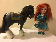"Disney Princess Merida Brave 14"" Doll Red Hair Tollytots Toddler Dress Green Eye"