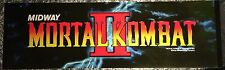 """Mortal Kombat II Arcade Marquee 26""""x8"""""""