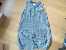 NINA RICCI GREY SILK SLEEVELESS SILK PARACHUTE OR BUBBLE DRESS!!!!