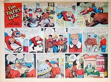 Tim Tyler's Luck by Young - large half-page color Sunday comic - July 20, 1952