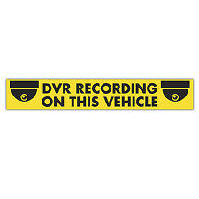 DVR RECORDING ON THIS VEHICLE sticker 620mm x 100mm  / cctv security