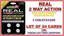 Stacker 2 Real 2 Way Action Energize Boost Meta 4 ct (Lot of 24 X Cards) 96 Tabs