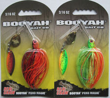 2 - BOOYAH BAIT Real Craw Pond Magic - 3/16 oz. - Nest Robber & Okie Craw
