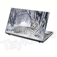 "TaylorHe 15.6"" Laptop Skin Cover Sticker Decal Tiger in Snow Big Cat 205"