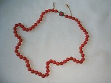 Very good Vintage Genuine Natural Coral Bead Necklace