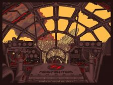 FOO FIGHTERS 2015 OFFICIAL WICHITA STAR WARS MILLENNIUM FALCON CONCERT POSTER