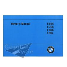 BMW Owner Manual Rider Book OEM R90S R90 R75 R60 R90/6 R75/6 R60/6 R90 S