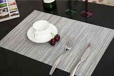4PCS Quick-drying Placemats Insulation Mats Coasters Kitchen/Dining Table Gray