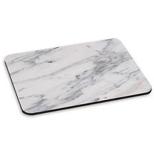En Blanco Y Gris impregnadas de mármol efecto patrón Piedra Pc Computadora Mouse Mat Pad