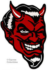 RED DEVIL EMBROIDERED IRON-ON PATCH satan lucifer LARGE WINKING SATAN BACK VEST