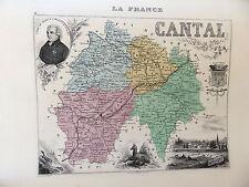 LA FRANCE ET SES COLONIES DEPARTEMENT DU CANTAL VOIR DESCRIPTIF