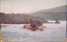 Irish Postcard COLLEEN BAWN & VICTORIA ROCKS Illus L&NW via Holyhead RR Ireland