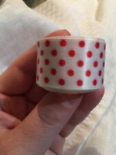 "NEW 5 Yards 1""  Wedding Party Craft Satin Ribbon Decorative White W/Red Dots"