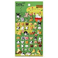 CUTE DOG STICKERS Sheet Puppy Animal Raised Puffy Vinyl Craft Scrapbook Sticker