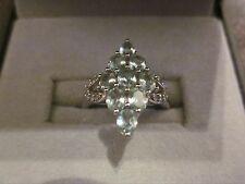 Impresionante Paraiba Turmalina & Diamante Anillo.