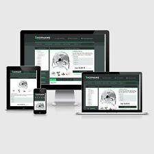 """eBay Auktionsvorlage """"Odette"""" Grün Responsive Design Template HTML Vorlage"""