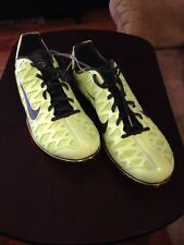 Nike Zoom Maxcat Running Spikes T/F Shoes, Mens 15  Neon Grn/yellow Reg $100