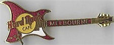 Hard Rock Cafe MELBOURNE 1999 ARIA Guitar PIN RED - HRC Catalog #5429