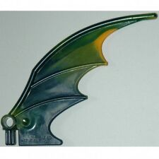 LEGO - Animal Body Part - Dragon Wing 8 x 10, Green and Yellow Trailing Edge