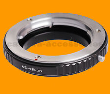 Macro Minolta MC MD SR X-600 lens to Nikon SLR DSLR camera mount adapter ring