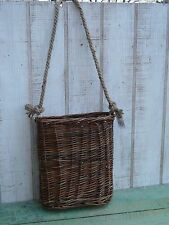 NEW primitive country style willow wall basket farmhouse rustic home decor