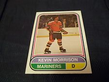 1975-76 OPC O-Pee-Chee WHA #80 Kevin Morrison Rookie San Diego Mariners - MINT