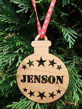 Personalised Christmas Tree Decorations: Custom Christmas Baubles