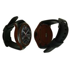 Skinomi Dark Wood Skin+Watch Screen Protector for Samsung Gear S3 Frontier
