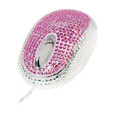 LogiLink Maus und Touch Pen mit Glitzer u. Strass Stift Stylus rosa pink ID0124