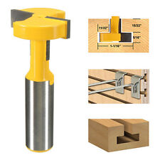 "1/2"" Shank T-Slot & T-Track Slotting Router Bit Fr Woodworking Chisel Cutter New"