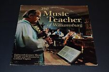 The Music Teacher of Williamsburg~Eighteenth Century Music~FAST SHIPPING
