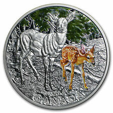 2015 Canada 1 oz Fine Silver Coin and Stamp Set Baby Animals Deer