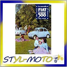 FIBB10 FIAT 500 LOCANDINE IN LATTA CM 30X40 PIC-NIC/FIAT UFFICIALE ORIGINALE
