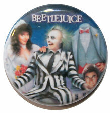 """1"""" (25mm) Beetlejuice 1988 Horror Movie Button Badge Pin - High Quality"""
